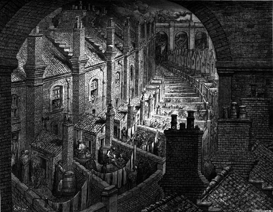 Over London by Rail Gustave Dore