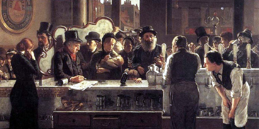 Behind the Bar by John Henry Henshall.