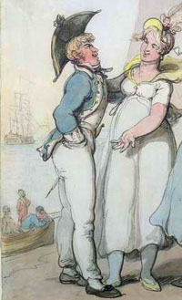Prostitute by Thomas Rowlandson.